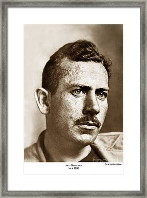 John Steinbeck American Author Circa 1938 Framed Print by California Views Mr Pat Hathaway Archives