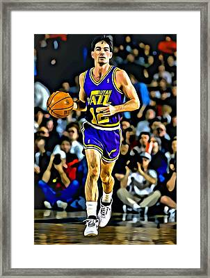 John Stockton Portrait Framed Print