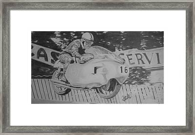 John Surtees Framed Print by Jose Mendez