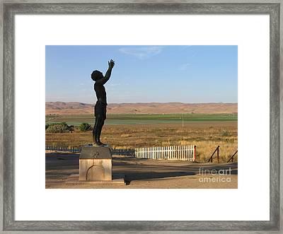 John The Baptist Statue Framed Print