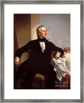 John Tyler Framed Print by GPA Healy