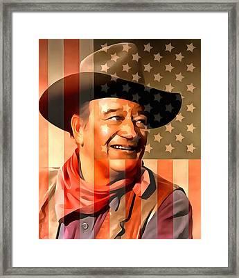 John Wayne American Cowboy Framed Print by Dan Sproul