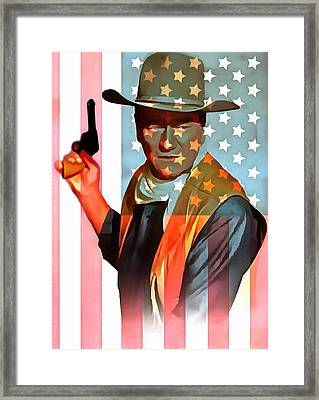 John Wayne American Icon Framed Print by Dan Sproul