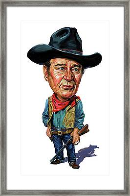 John Wayne Framed Print by Art