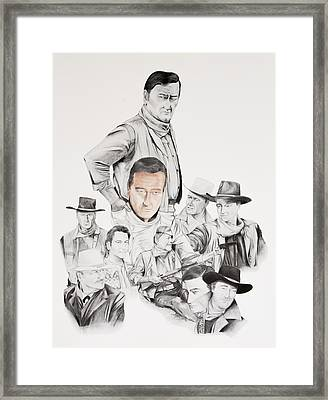 John Wayne Commemoration 1930 To 1976 Framed Print by Joe Lisowski