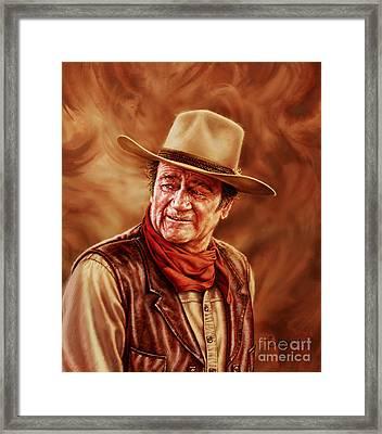 John Wayne Framed Print by Dick Bobnick