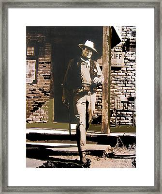 John Wayne Exciting The Sheriff's Office Rio Bravo Set Old Tucson Arizona 1959-2013 Framed Print by David Lee Guss