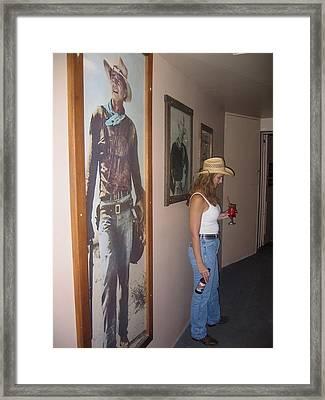 John Wayne Gallery Hondo 1953 Crystal Palace Saloon Helldorado Days Tombstone Arizona 2004 Framed Print by David Lee Guss
