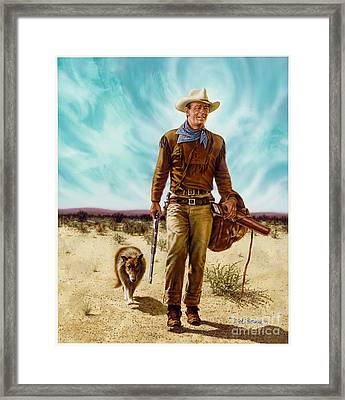 John Wayne Hondo Framed Print