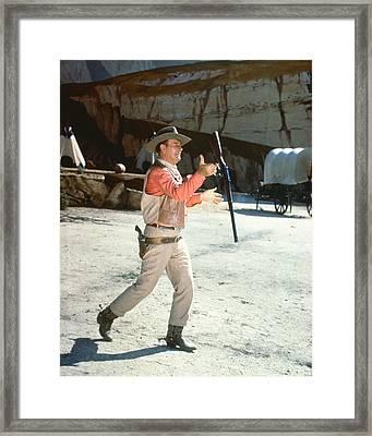 John Wayne In El Dorado  Framed Print by Silver Screen