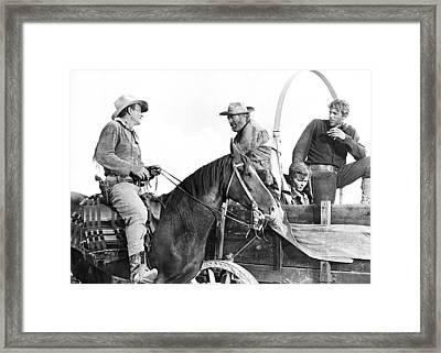 John Wayne In hondo Framed Print
