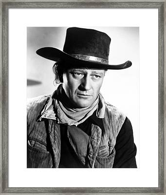 John Wayne In Red River  Framed Print