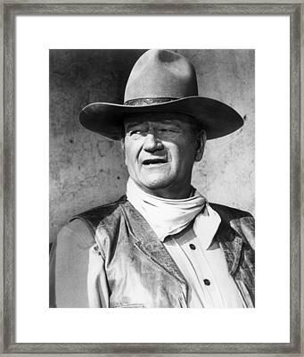 John Wayne In Rio Lobo  Framed Print