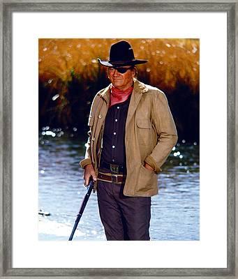 John Wayne In Rooster Cogburn  Framed Print
