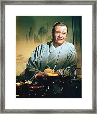 John Wayne In The Barbarian And The Geisha Framed Print