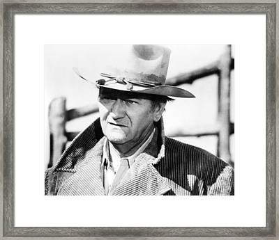 John Wayne In The Cowboys  Framed Print by Silver Screen