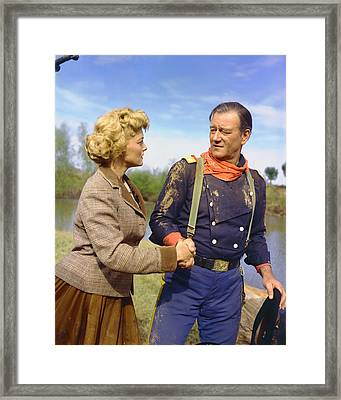 John Wayne In The Horse Soldiers Framed Print by Silver Screen