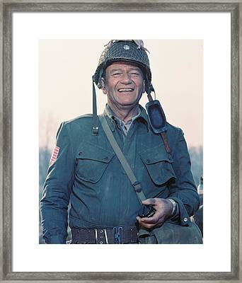 John Wayne In The Longest Day Framed Print by Silver Screen