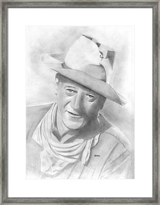 John Wayne Framed Print by Pat Moore