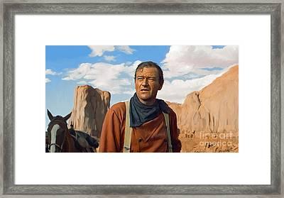 John Wayne Framed Print by Paul Tagliamonte