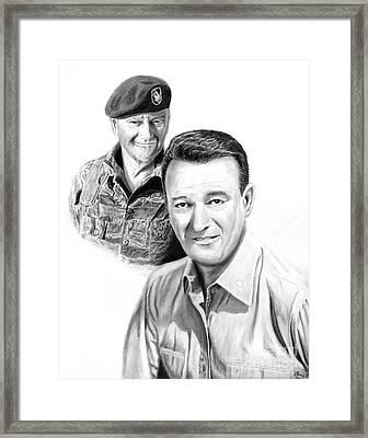 John Wayne Framed Print by Peter Piatt