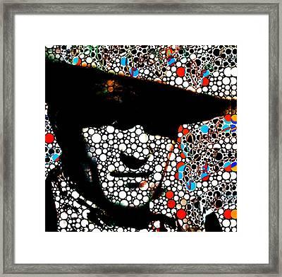 John Wayne Poster Prints Abstract Cowboy  Framed Print