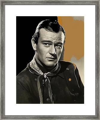 John Wayne  Publicity Photo In Costume Stagecoach 1939-2009 Framed Print by David Lee Guss