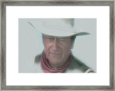 John Wayne Framed Print by Randy Follis