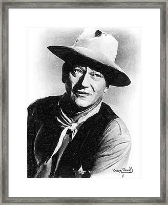 John Wayne Framed Print by Wayne Pascall