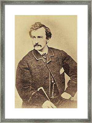 John Wilkes Booth, American Assassin Framed Print
