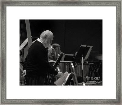 John Williams At Tanglewood 2013 Framed Print