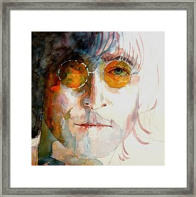 John Winston Lennon Framed Print by Paul Lovering