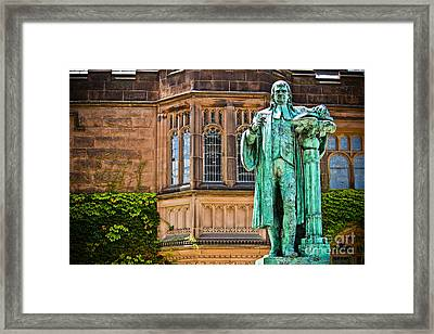 John Witherspoon - Statue Framed Print by Colleen Kammerer