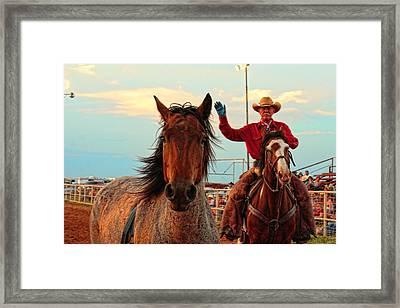 Johnnie And Zeke Framed Print