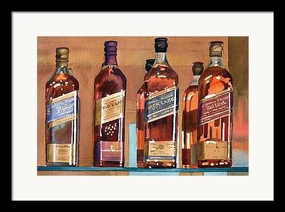Alcohol Framed Prints