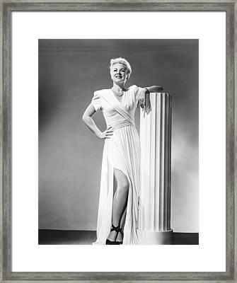 Johnny Angel, Claire Trevor, 1945 Framed Print
