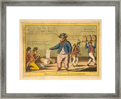 Johnny Bull And The Alexandrians  Wm Charles, Ssc. Charles Framed Print