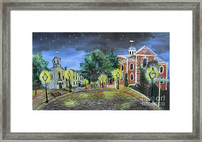 Johnny Cake Hill New Bedord Ma Framed Print by Carol Veiga