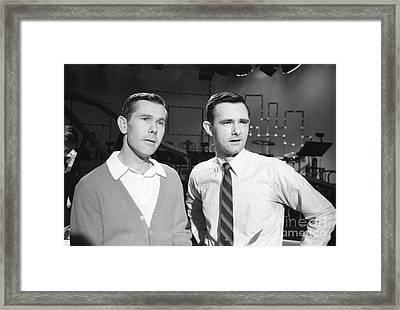 Johnny Carson With His Brother Dick Carson 1963 Framed Print