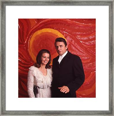 Johnny Cash And June Carter Cash Framed Print by Retro Images Archive
