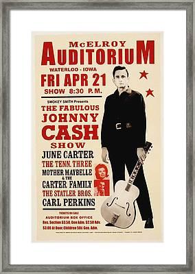 Johnny Cash Concert Poster Framed Print