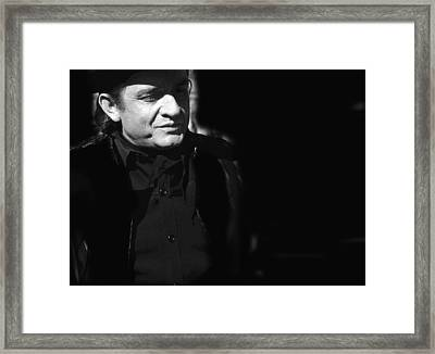 Framed Print featuring the photograph Johnny Cash Film Noir Homage Old Tucson Arizona 1971 by David Lee Guss