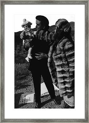 Framed Print featuring the photograph Johnny Cash Flesh And Blood Music Homage Cash Family Old Tucson Az by David Lee Guss