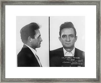 Johnny Cash Folsom Prison Framed Print by David Millenheft
