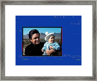 Framed Print featuring the photograph Johnny Cash John Carter Cash Old Tucson Arizona 1971 by David Lee Guss