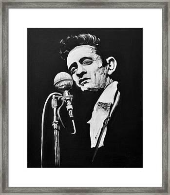 Johnny Cash Framed Print by Melissa O'Brien