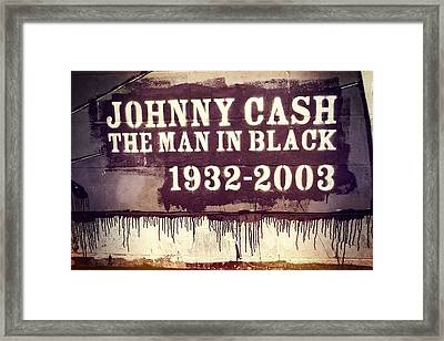 Johnny Cash Memorial Framed Print