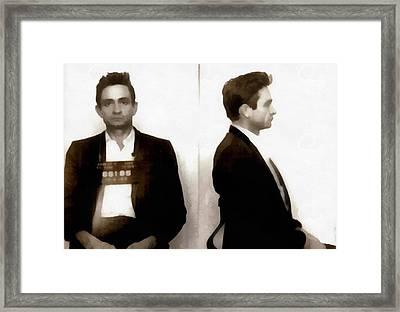 Johnny Cash Mugshot Framed Print