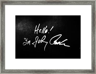 Johnny Cash Museum Framed Print