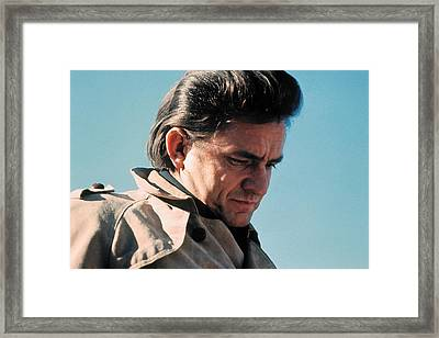 Framed Print featuring the photograph Johnny Cash  Music Homage Ballad Of Ira Hayes Old Tucson Arizona 1971 by David Lee Guss
